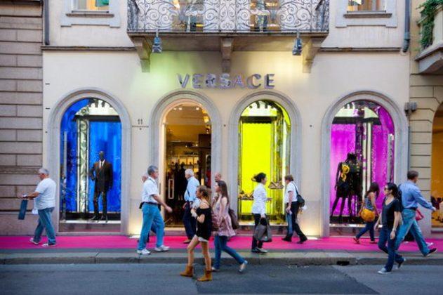 Торговые улицы в Италии Милан Турин