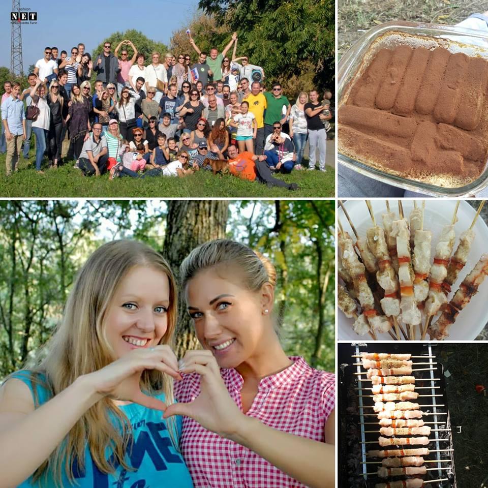 Шашлык в Турине пикник, встречи русскоязычных Турина