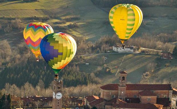 Клуб воздушных шаров в Италии Турин Мондови События Турина январь 2018 года
