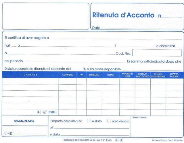 Подоходный налог в Италии
