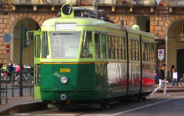 Исторический трамвай в Турине