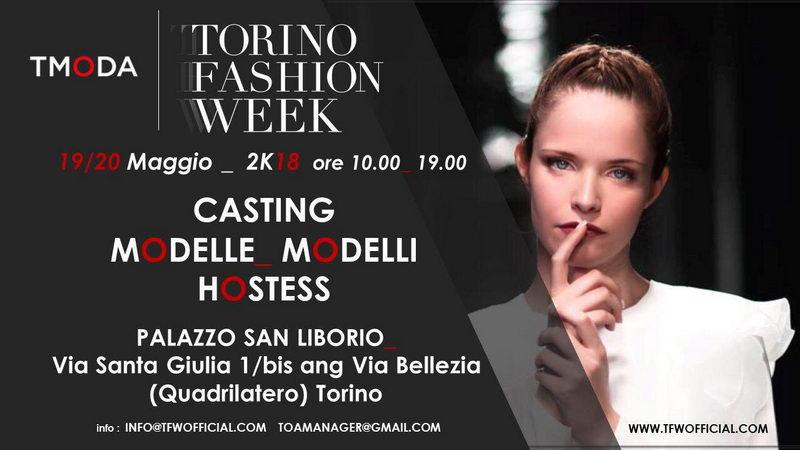 Кастинг Неделя моды в Италии Турин