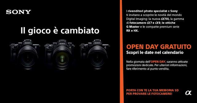 Фотомагазин в Турине проба беззеркалок Sony
