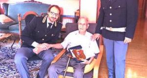 Полицейский из Турина ветеран ВОВ опраздновал 100 летие