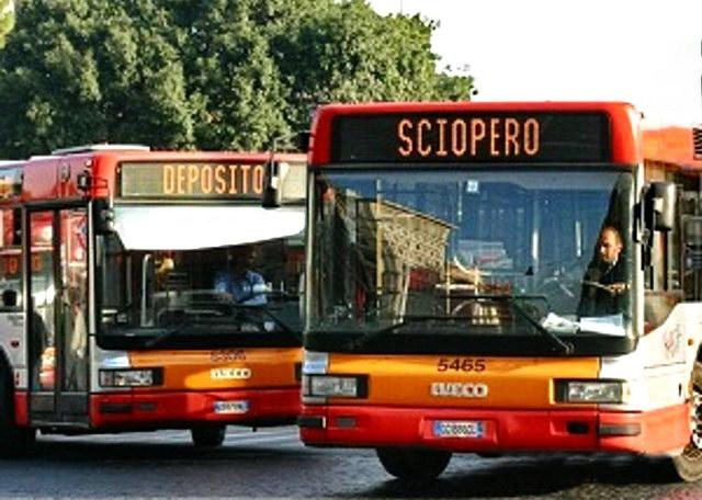 Забастовка автобусов трамваев Италия Турин
