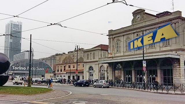 Ikea в центре Турина