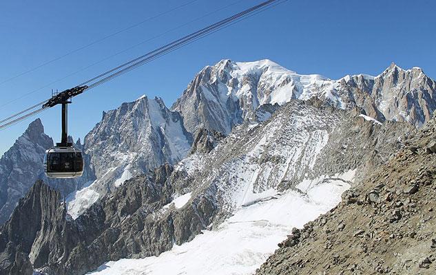 Канатная дорога Альпы Монблан полусферические кабины