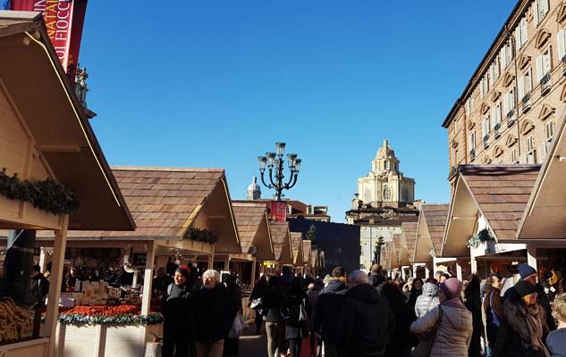 Рождественский базар на площади Кастелло 2019 Турин