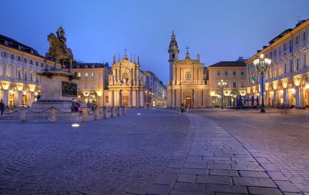 Рождественские витрины Турина прибывают на площадь Сан-Карло