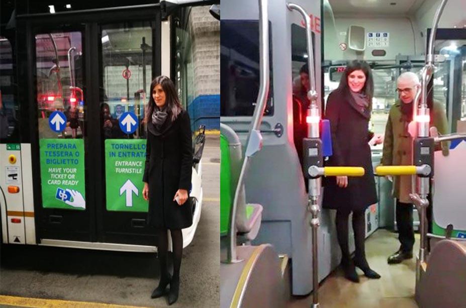 Турникеты на туринских автобусах мэр Турина Кьяра Аппендино События Турина в феврале 2019 года