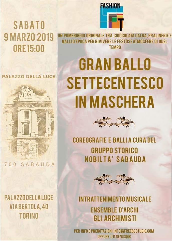 Замечательный бал моды в Турине в дворце света
