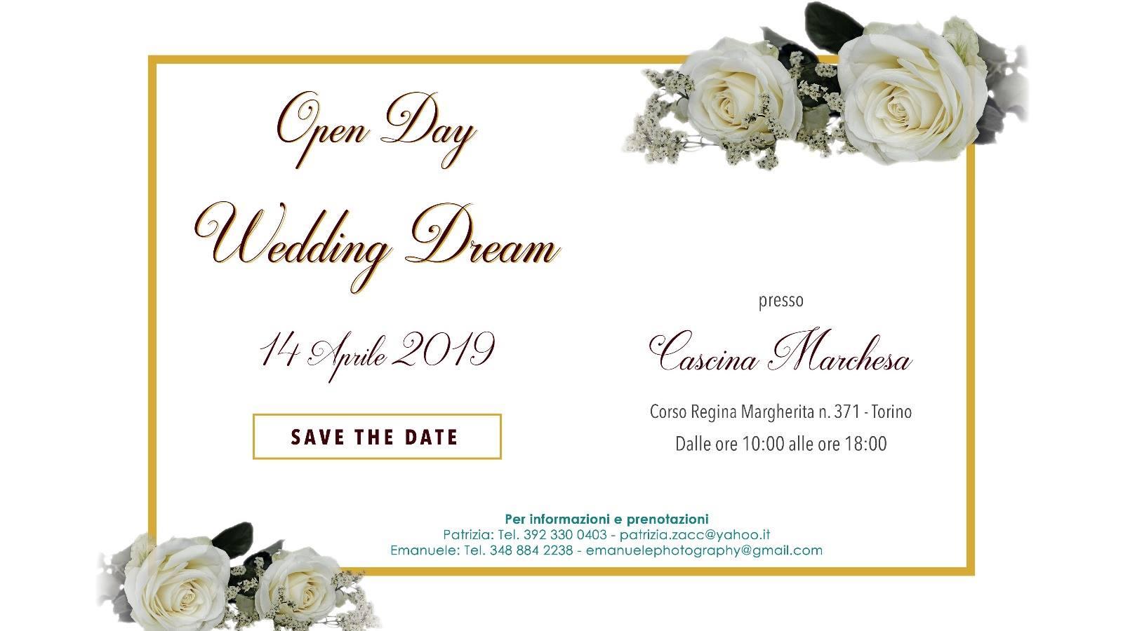 Open Day-Wedding Dream События Турина апрель 2019 года