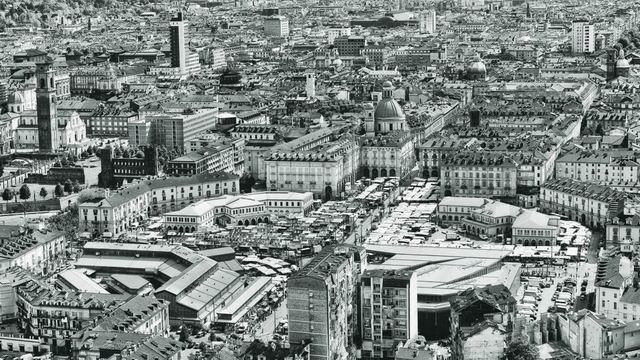 Старинные фотографии Турина рынок Порта Палаццо