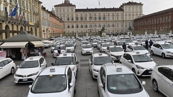 Забастовка такси в Турине