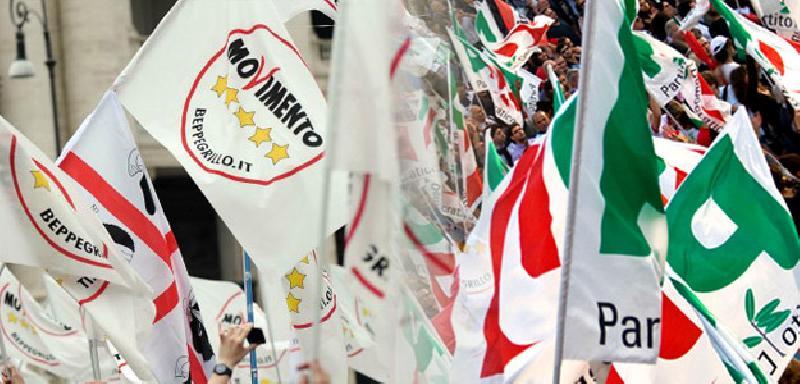 События Турина сентябрь 2019 года флаги политика турин
