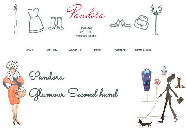 Pandora Vintage Shop, открыт с 1999 года, один из первых винтажных магазинов в Турине.