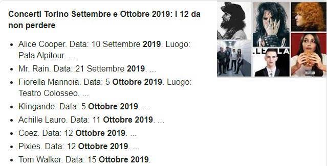 Концерты в Турине в ноябре