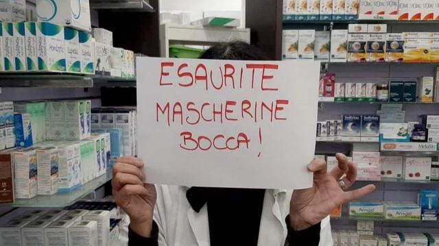 В поисках масок для лица, опустошенные аптеки коронавирус Италия Турин