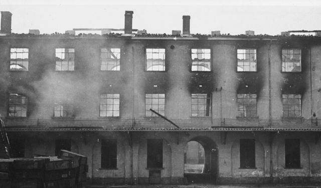 История дворца Viboccone Турин Война и бомбежки