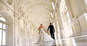 Свадьба в Италии в Королевском дворце Венария Реале в Турине