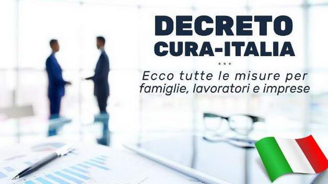 Помощь правительства Италии декрет «Cura Italia» приостановка ипотеки, заблокированы налоги и другие бонусы