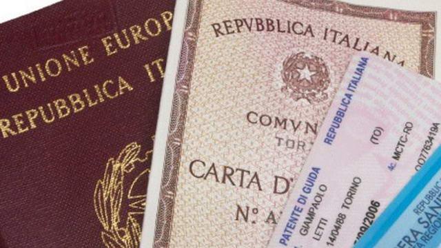 Удостоверения личности и документы удостоверяющие личность в Италии