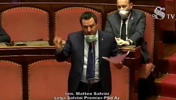 Маттео Сальвини в сенате возвращается к атаке Китая