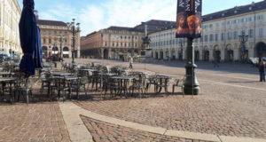 Центр Турина как пустыня Италия времена коронавируса