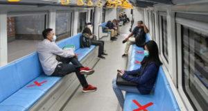 Социальная дистанция в общественном транспорте после карантина