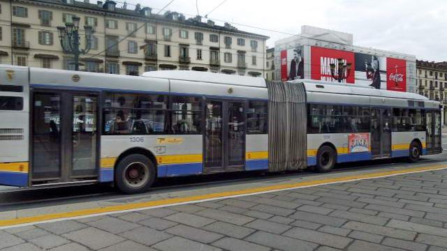 Фаза 2 в Турине Пьемонте на общественном транспорте