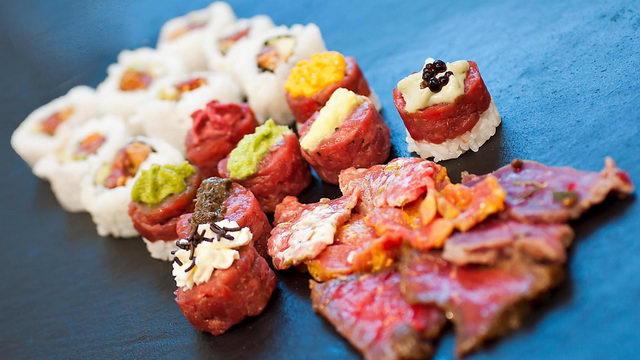 Пьемонтские суши Crushi из сырого мяса