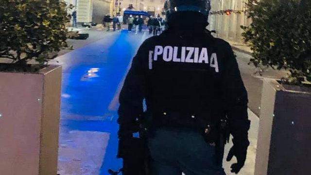 Уличные беспорядки в Италии Турин полиция