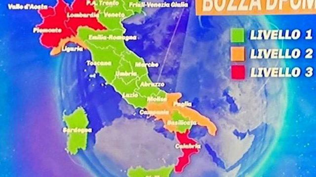 Ковид количество зараженных по Италии карта