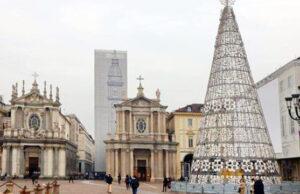 Рождественские огни в Турине 2 декабря