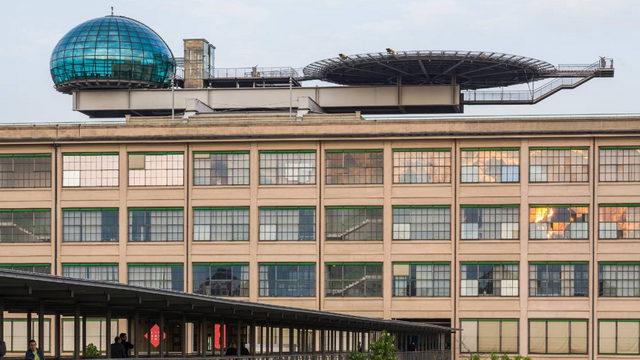 Ресторан на тестовом треке на крыше фабрики ФИАТ