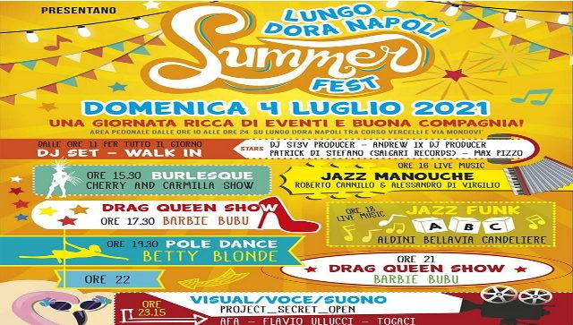 Летние праздники в Турине Lungo Dora Napoli Summer Fest