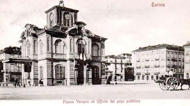 Античные фотографии Турина площадь Венеции